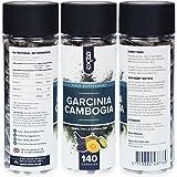 Garcinia Cambogia, 100% reine & natürliche Pulverkapseln aus ganzen Früchten , 140 vegetarische und vegane, hochwirksame, Appetit zügelnde, Fett verbrennende Diätpillen, entwickelt für gesunde Gewichtsabnahme, frei von Gluten, Milch, Weizen und Koffein plus zusätzlichem Kalium, Kalzium und Chrom für die besten Ergebnisse, sicher in Großbritannien hergestellt nach den höchsten GMP-Standards von Exzo. Bild 6