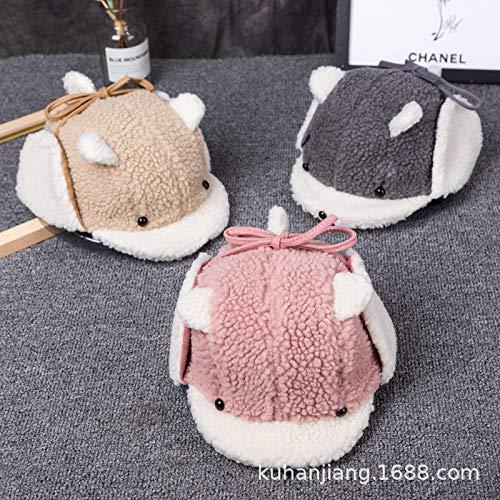 Baby Naruto Kostüm - mlpnko Baby Mütze Kinder Lammfell warme Jungen und Mädchen Ohrenschützer gemischten Batch-Code (44-52cm oder so)