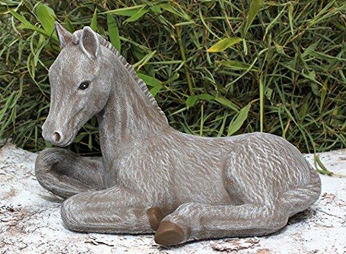 Tiefes Kunsthandwerk Pferde-Figur - in braun, Pferde-skulptur als schönes Wohnaccessoire oder Geschenk, Pferde-Statue als Deko für Garten, Haus und Wohnung -