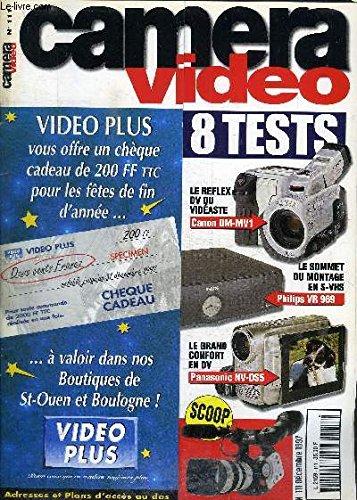 CAMERA VIDEO N°120 - COMPARATIF, 4 MINI CAMESCOPE A ECRAN - 9 REGLES FACILES POUR MIEUX CADRER - PANASONIC DV 10000 LE ROI DU MONTAGE - SONY TR3200 LE MEILLEUR DU Hi-8 (Video Sony Camera Hi8)