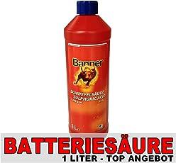 Batteriesäure Batterie Säure Akku Säure 1L original von Banner Schwefelsäure