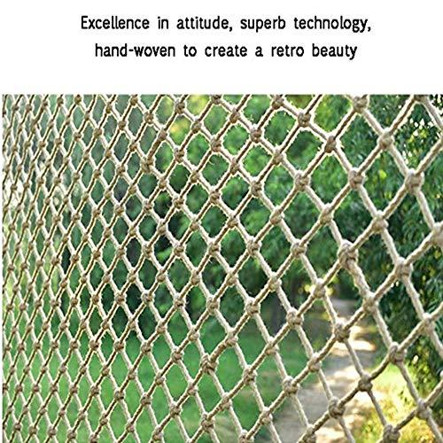 GZHENH Netz Dekor Netz Fischnetz Wand ,Kinder Klettern Net Wanddekorationsnetz Handgewebtes Netzseil 12mm Dickes Seil Geländersicherheitsnetz, Anpassbar (Color : Beige-15cm, Size : 1x5m)