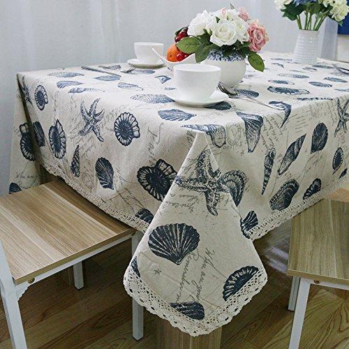 Tablecloth Bettwäsche Tischdecke Vlies gedruckte Traditionelle Chinesische Shell Home/Outdoor/Party Größe: 60 * 60-140 * 250 Weihnachten Manteles para Mesa, 140 x 220 -