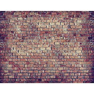 Fototapete Ziegelmauer 3D Braun 396 X 280 Cm Vlies Wand Tapete Wohnzimmer  Schlafzimmer Büro Flur Dekoration