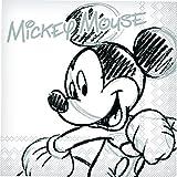 EX.TRA - Servilletas Mickey & Minnie, Color Blanco, Talla 33 x 33 cm