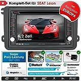 2DIN Autoradio CREATONE V-336DG für Seat Leon (2010-2013) mit GPS Navigation (Europa), Bluetooth, Touchscreen, DVD-Player und USB/SD-Funktion
