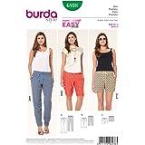 Burda 6938 Knippatroon broek, bermuda en shorts met elastiek (dames, maat 32-46) Level 1 Super Easy