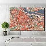 HD-Druck Luftbild von Amsterdam, Niederlande-ungerahmte