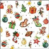 Ambiente Papierservietten - Servietten Lunch / Party / ca. 33x33cm Tree Decorations - Weihnachten - Ideal Als Geschenk Und Tisch-Deko