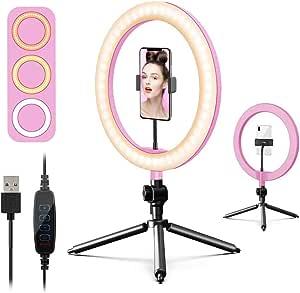 6amlifestyle 10 Zoll Selfie Ringlicht Led Ringleuchte Elektronik