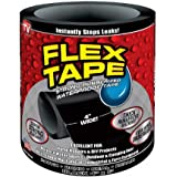Naitik Creation Flex Tape Waterproof Rubberized Seal Sealant Repair Tape to Stop Leakage of Kitchen Sink, Toilet Tub, Water Tank, Pipe Instantly, 4 inches x 5 feet, Black