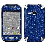 atFolix Samsung Galaxy Young (GT-S6310) Skin FX-Glitter-Blue-Danube Designfolie Sticker - Reflektierende Glitzerfolie