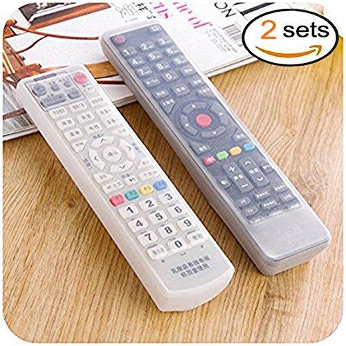 EQLEF® TV Fernbedienung Hülle, Fernbedienung Schutzhülle, Silikon Transparent Klimaanlage TV-Fernbedienung Schutztasche, staubdicht und wasserdichte Abdeckung (2 Satz)