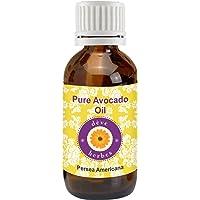 Deve Herbes Pure Avocado Oil (Persea Americana) 100% Natural Therapeutic Grade Cold Pressed for Personal Care, 15 ml
