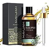 MAYJAM Aceites Esenciales de Eucalipto 100 ml, 100% Aceites Esenciales Naturales Puros, Aceite Esencial de Aromaterapia de Gr