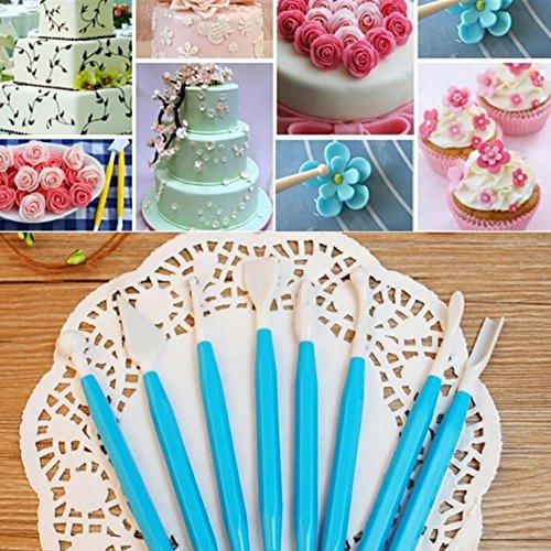 Mayyou Kuchen Dekorieren Tools Fondant Icing Cutters Kit Plunger Cutters Kuchen Puderglätter Smoother Walzen Zubehör -