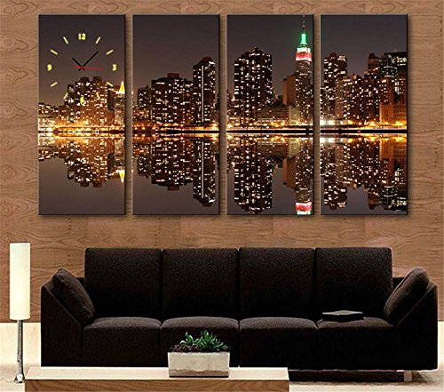 mdz-4-pcs-creative-continental-urban-reflections-horloge-decorative-peinture-peinture-peinture-decor
