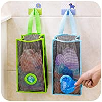 Orpio Home Store Recycle Breathable Mesh Hanging Plastic Garbage Bags Storage Holder-Large