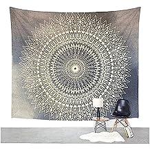 """Mandala de la tapicería pared que cuelga de la India Hippie Tapiz bohemio colgante de pared Tapestry decoración del arte Por Dremisland (L/80""""x60"""", GREY FLOWER)"""