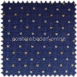 Möbelstoff Dortmund Blau Punktmuster mit Teflon