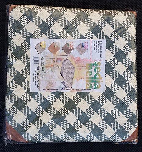 6 coprisedia in paglia universali 50x50 rafia coprisedia cucina salotto made in italy (variante 2)