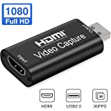 Oxlaw Game Capture Cards Audio Video Capture Cards 1080P HDMI to USB Record to DSLR Camcorder Action Cam,Computer for…