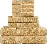 Juego de toallas Premium de 8 piezas; 2 toallas de baño, 2 toallas de...