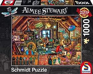 Schmidt Spiele 59379-Aimée Steward, KOSTBARKEITEN bajo el Techo, Rompecabezas, 1000Piezas