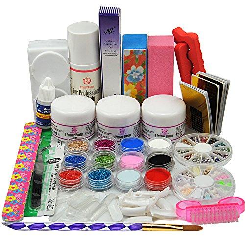Coscelia kit polvere acrilica colorata 75ml liquido acrilico attrezzi pennello per unghie decorazioni unghie ricostruzione