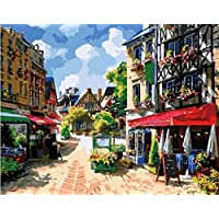 Diy oil painting, paint by number kits- Sunshine Town 16*20 inches. by Colour Talk