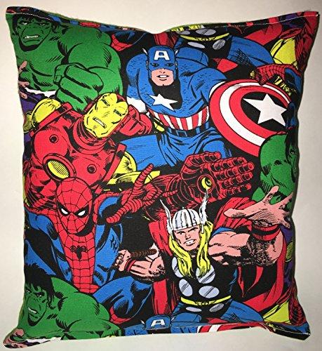 Marvel Block Kissen Hulk, Iron Man, Captain Amerika, Thor, Spider-Man, handgemachte in den USA Kissen ist ungefähr 25,4 cm x 27,94 cm