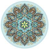 Nanle Tapis De Yoga 3.5mm Épais Rond En Caoutchouc Naturel Anti-dérapant Imprimé Tapis de Sol Tapis Coussin De Yoga Méditation Pad 140 cm * 140 cm (Couleur : Style B)