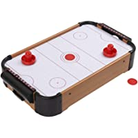 Toys N Smile Wooden Indoor Air Hockey Game Table Top Toy for Kids, Big Size 70 Cm X 37 Cm X 9.5 Cm, Multi Color
