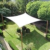 Tuindeco Sonnensegel Viereck, 550x550cm, Silber