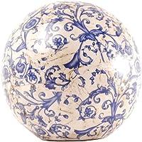 Esschert Design AC12 17 x 18 x 18cm Ceramic Sphere Decor - Multi-Colour