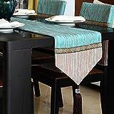 Camino de mesa azul de moda/Clásico de algodón y tela de la ropa de mesa/Camino de mesa simple y moderna/paño de tabla de té-A 33x160cm(13x63inch)