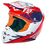 FLY RACING F2 CARBONIO Motocross/Downhill casco Mips Retrospec purple-orange - rosso, XL
