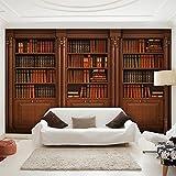 murando - Fototapete Bücherregal 400x280 cm - Vlies Tapete - Moderne Wanddeko - Design Tapete - Wandtapete - Wand Dekoration - Bücher-0016-a-a