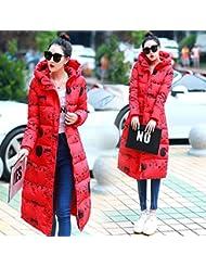 YRF Dame plume et des vêtements en coton. Manteau long à capuchon. Plus la taille veste matelassée. Manteau long