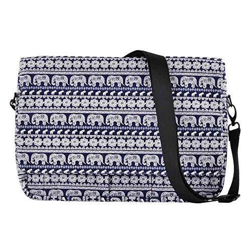 MuzzYOU Laptoptasche/Aktentasche aus Polyester für 33-33,8 cm (13-13,3 Zoll) MacBook Pro, MacBook Air, Ultrabook Netbook Tablet blau Elefant L