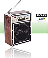 UNIq Sonilex Portable FM Radio have LED Screen Display with USB Pen Drive / SD Player. Light weight & Crisp and Clear Supreme Quality Music Output. Compatibility with Cell Phone, Mp3, iPod and iPhone Through 3.5mm Line In. 180 Degree rotating antenna DC power supply 5V (Dry Batteries not included). Playback Time: Minimum 4 hrs, Maximum memory card capacity: 32 GB, FM Tuner: Yes, Color – Multicolor