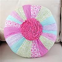 M&F - Cojín redondo con forma de flor, para dormitorio, habitación de los niños, coche, casa, sofá, decoración, hecho a mano, almohadas de edredón