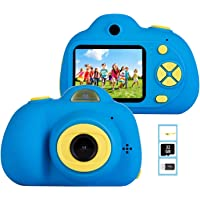 YunLone ToyZoom Macchina Fotografica per Bambini, Bambini Fotocamera Digitale Portatile Selfie Videocamera per Bambine 2…