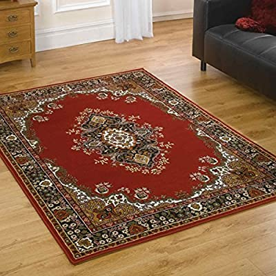 Flair Rugs Element Lancaster Traditional Rug, Red, 80 x 150 Cm - low-cost UK light shop.