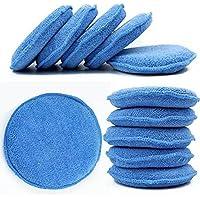 WINOMO 10pcs encerado polaco cera espuma esponja aplicador almohadillas vehículos vehículo limpio (azul)