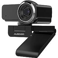AUSDOM AW635 HD 1080p Webcam mit Mikrofon, Plug & Play USB Streaming Webkamera 60° Weitwinkel mit Low Light Korrektur…