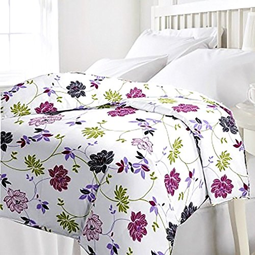 Renown Pretty Violet Floral Design Reversible Double Bed Quilt / AC Blanket...