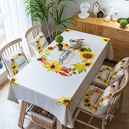90130 cm beige beige beige girasole Cottage Garden picnic rettangolare da pranzo scandinavo Instagram tovaglia cotone lino quadrato eco-friendly copre B076M6LXHJ Parent | Up-to-date Styling  | Le vendite online  | Buon Mercato  0ca17d