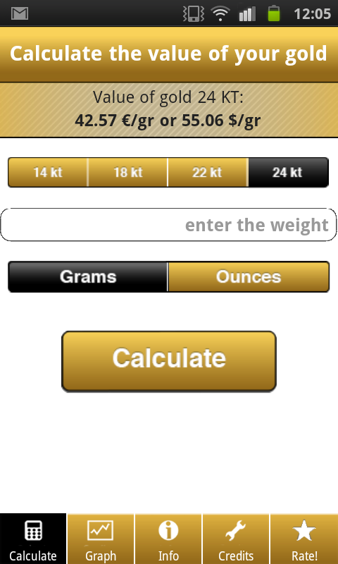 Gold Price Calculator Live: Amazon co uk: Appstore for Android