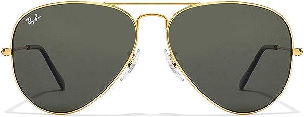 men's aviator sunglass with golden frame